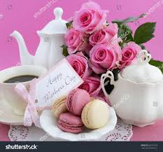happy mothers day pink roses tea stock photo 269171903 shutterstock