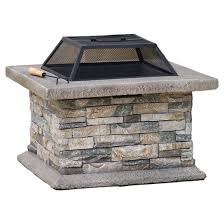 Target Outdoor Fire Pit - christopher knight home crestline outdoor fire pit natural stone