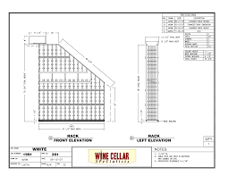 custom wine cellar los angeles california cad drawing elevation d