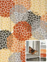Orange Shower Curtains Extraordinary Gray And Orange Shower Curtain Photos Best