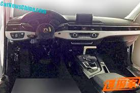 audi a4 2016 interior spyshots all new 2016 audi a4 b9 shows part of its exterior and