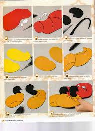 moldes mickey mouse en foamy disney pinterest felt toys and