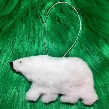 softest fluffy polar bear christmas ornament favecrafts com