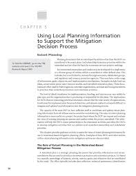 statement of purpose and objectives chapter 5 using local planning information to support the page 58