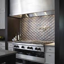 stainless steel tiles for kitchen backsplash stainless steel basketweave backsplash design ideas