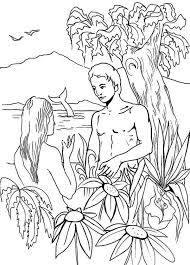 coloring pages adam and eve adam and eve coloring pages for kids coloringstar