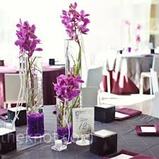 Purple Wedding Centerpieces Modern Purple Wedding Centerpieces