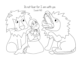 free bible coloring page daniel and the loins