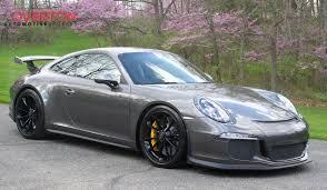 gray porsche 911 2016 porsche 911 gt3 in agate gray grey metallic with black