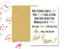 bridesmaids invite printable you curse like a sailor you drink like a fish