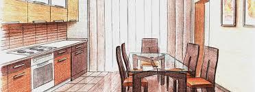 Kitchen Design Sketch What Stages Interior Design Project Preparation Includes Part 2