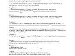 projects ideas objectives for resumes 15 cover letter it resume