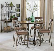 bombay dark cherry counter height dining room set from standard