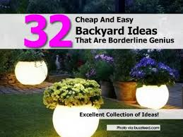 cheap backyard makeover ideas christmas lights decoration