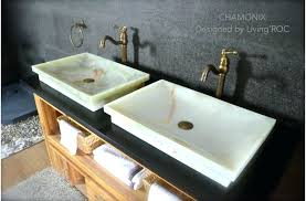 bathroom sink vessels rectangular polished marble platform vessel