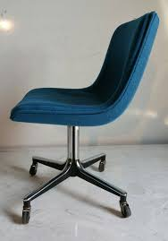 Rolling Office Chair Design Ideas Simple Blue Fabric Rolling Office Chair Design With Metal Base