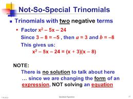 35 not so special trinomials