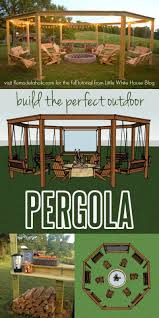 How To Build A Backyard Swing Remodelaholic Tutorial Build An Amazing Diy Pergola And Firepit