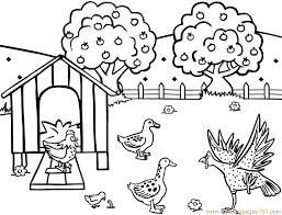 Farm Coloring Pages Free free farm animal coloring pages 3 school theme on the farm