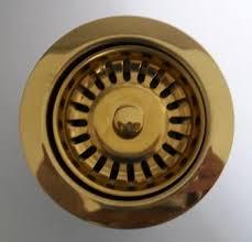 Kitchen Sink Basket Strainer Waste Gold Mm Plumbers Mate Ltd - Kitchen sink waste strainer