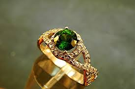gold emerald engagement rings and emerald wedding band or engagement ring