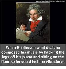 Deaf Meme - wwwfacebookcomthemedicalfactsdotcom when beethoven went deaf he