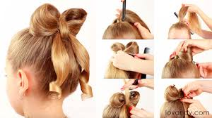 hair bow diy how to make hair bow hairstyle tutorial