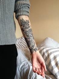 chic sleeve tattoo ideas for girls elegant tattoo and floral