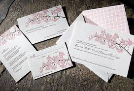 cherry blossom wedding invitations cherry blossom wedding invitations printed on eco friendly bamboo