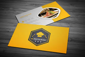 restaurant business card business card templates creative market