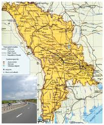 Moldova Map Large Roads And Railways Map Of Moldova With Cities Vidiani Com
