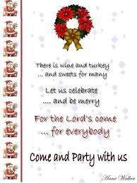 Designs For Invitation Card Christmas Invitation Wording Ideas Christmas Celebrations