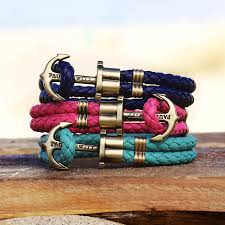 leather bracelet with anchor images Paul hewitt brass anchor leather bracelet navy blue elstarade jpg