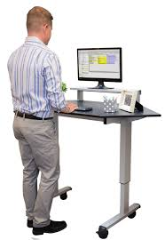 Adjustable Desk Shelf Furniture Adjustable Standing Desk With Monitor Shelf And Crank