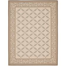 Safavieh Outdoor Rug Safavieh Courtyard Beige Beige 9 Ft X 12 Ft Indoor Outdoor