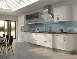 grey kitchen floor ideas high gloss white kitchen with grey floor creating a trendy white