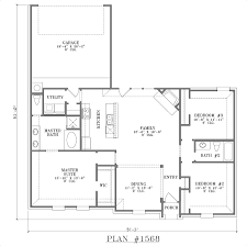 baby nursery open floor house plans one story rear garage house