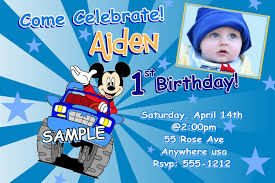 Mickey Mouse Invitation Card Mickey Mouse Invitations