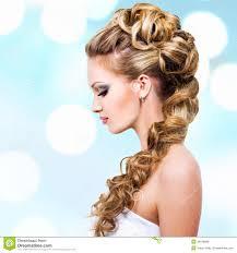 femme mariage femme avec la coiffure de mariage images libres de droits image