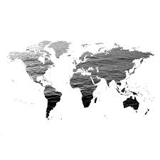 Black And White World Map World Map Ocean Texture Black And White Photograph By Marianna
