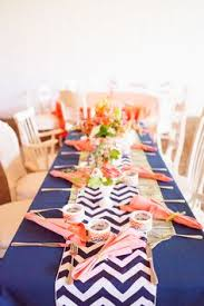 Navy Table L Select A Size Navy Blue And White Chevron Table Runner