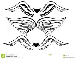 wings tattoo design stock photos image 13298703