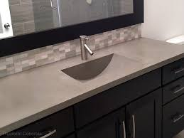 integrated sink vanity top concrete sinks trueform custom work design gorgeous vanity top with