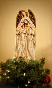 unique tree topper angel embracing holy family