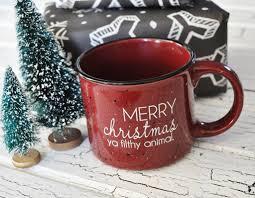 weird coffee mugs merry christmas ya filthy animal funny coffee mug red
