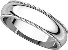milgrain wedding band mens platinum milgrain wedding band 5mm