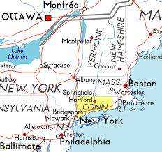 connecticut on map map of connecticut in the usa