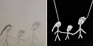 children s jewelry children s drawings turned into jewelry to create timeless
