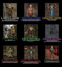 The Elder Scrolls Memes - the elder scrolls iii morrowind alingment chart by paksenarrion