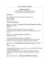 Child Care Resume Samples by 5 Nanny Resume Templates Sample Of Nanny Resume Resume Cv Cover